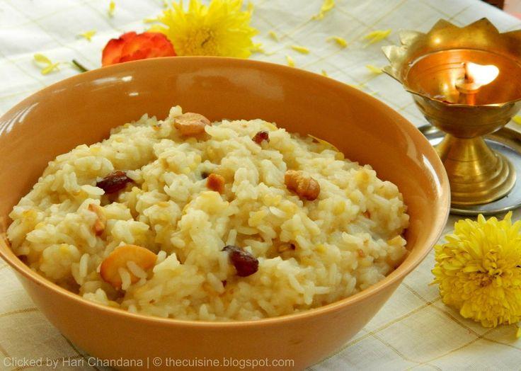 Chakra Pongali ~ Sankranthi Festival Special Recipe