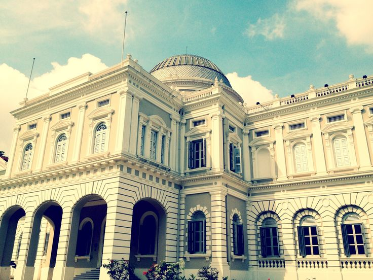 National Museum of Singapore in Singapore. A must visit (on a bi-monthly basis) to check out the new exhibits, or just feast on the architecture of the building. Best times are when they have movie screenings on the lawn in the evenings.