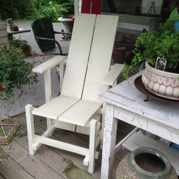 Rietveld- inspired adirondack chair---I HAVE THE PLANS FROM WOOD MAGAZINE & 10 best Red u0026 Blue Chair images on Pinterest | Blue chairs Chairs ...
