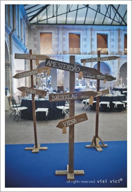 Blue wedding Decoration