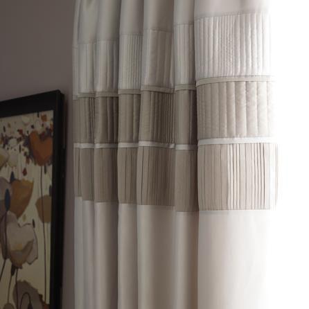 Latte Clermont Thermal Pencil Pleat Curtains | Dunelm