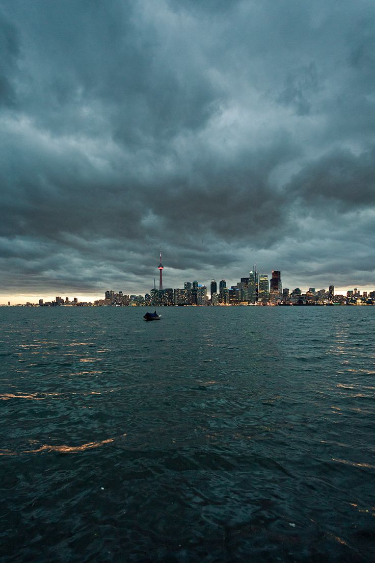 Toronto with ominous clouds looming