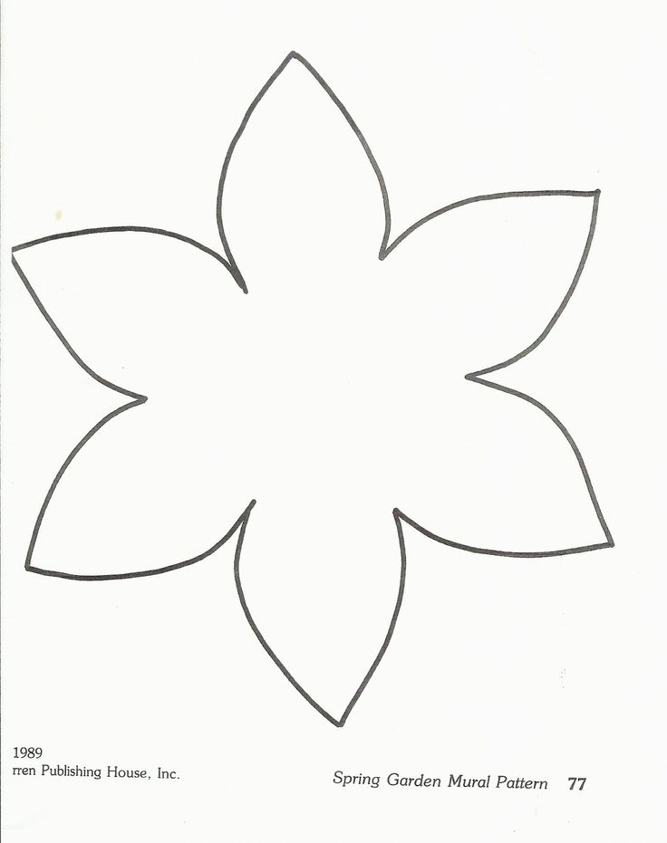 printable flower template could be used to craft daffodils