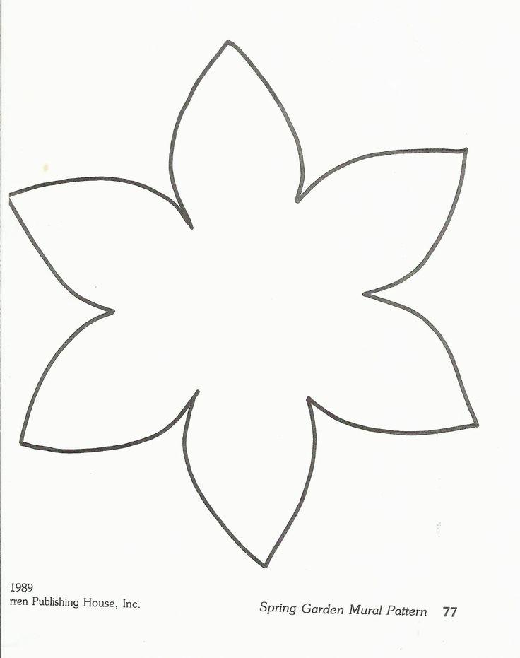 Flower Template Preschool http://squishideasforpreschool.blogspot.com ...