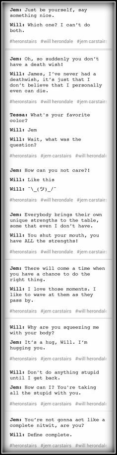 Will and Jem with iconic movie and TV quotes