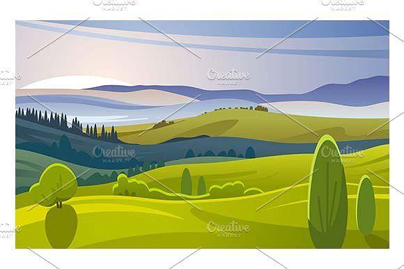 Morning landscape by Kurokstas on @creativemarket