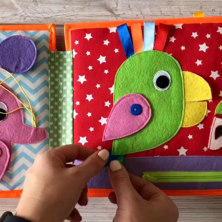 Pikabook Mein erstes Buch, Stilles Buch für Babys, Beschäftigtes Buch   – Sewing projects