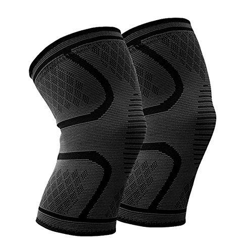 From 12.98 Knee Support (pair) Beskey Anti Slip Knee Brace Super Elastic Breathable Knee Compression Sleeve Help Joint Pain Relief For Arthritic Sufferer And Recovery From Injuries Fit For Sports (xl Black)