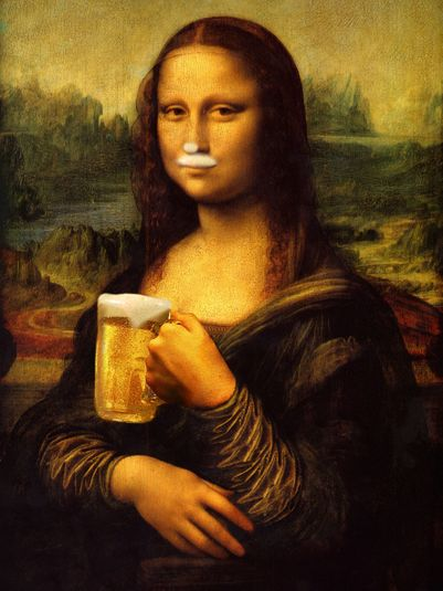 Mona, have another Birra Artigianale ... with apologies, Leonardo!