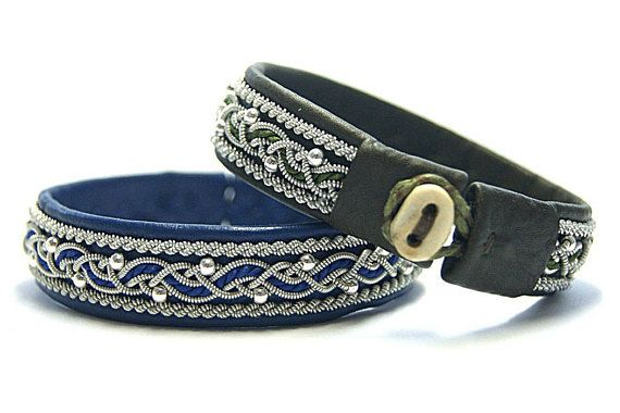 The Scandinavian Sami womens bracelets are made from soft leather of deer and lamb with an original plaiting pewter thread. Womens leather bracelet. Bracelet with 925 silver beads. - Original materials from Sweden; - High-quality handmade; - European soft deer and lamb skin without