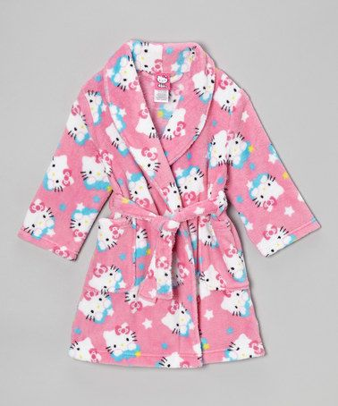 Take a look at this Pink Hello Kitty Stars Robe - Toddler by Hello Kitty on #zulily today!