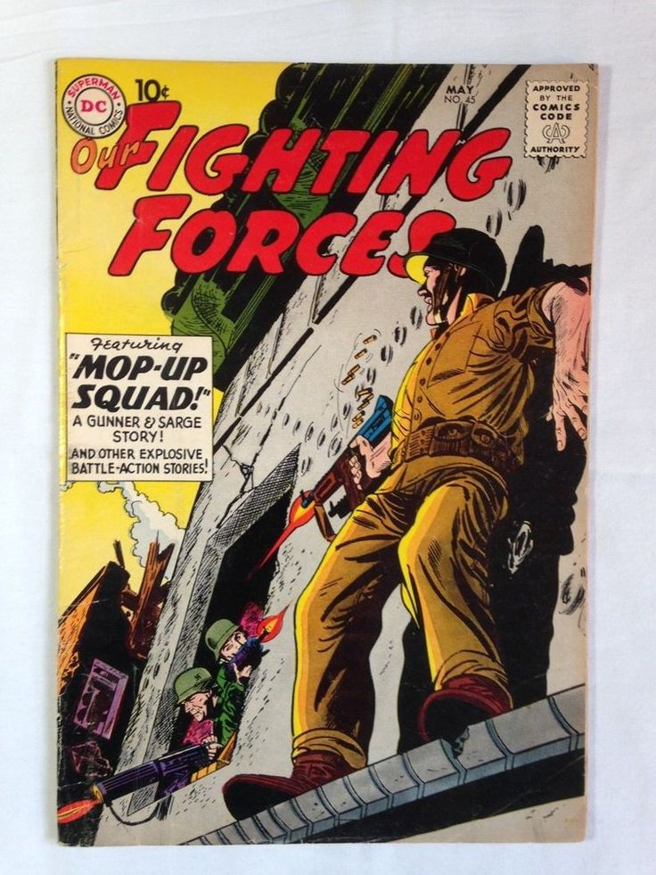 OUR FIGHTING FORCES Gunner & Sarge No.45 Gunner & Sarge Series F-