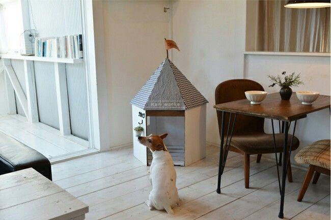 小さな小屋だから「CoCoya」と名付けました。ワンちゃんのためにつくったみたい、六角形の、タイニー・タイニーハウス。