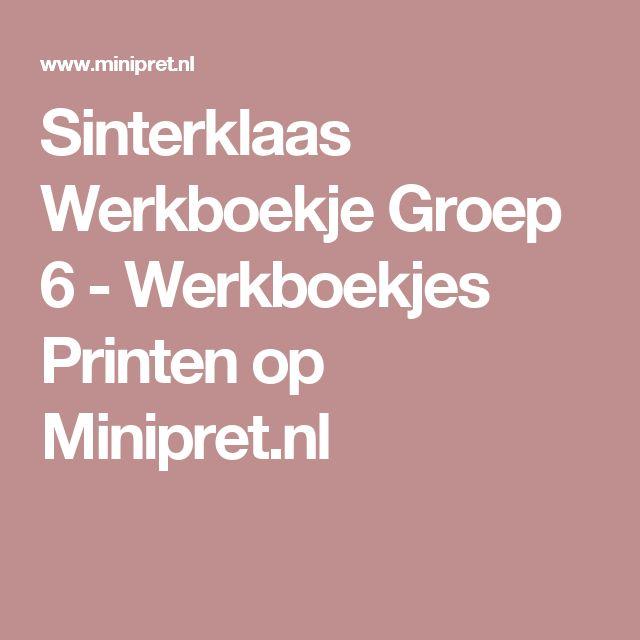 Sinterklaas Werkboekje Groep 6 - Werkboekjes Printen op Minipret.nl