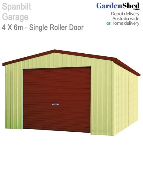 This Spanbilt Garage 4x6 fits your car securely and can be used for extra storage, vehicle/boat or a workshop. Endless possibilities at Gardenshed.com