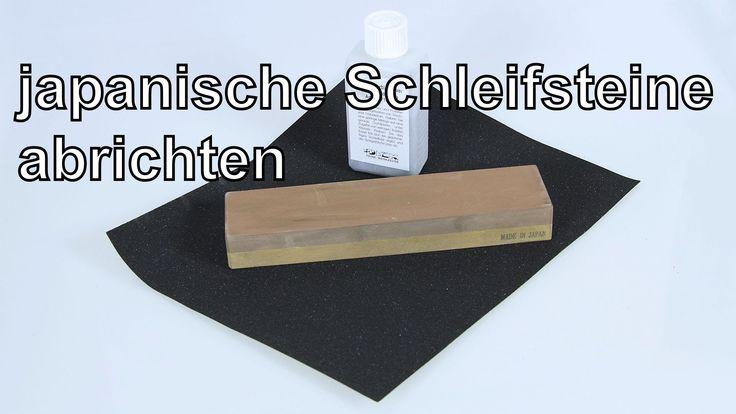 Weich gebundene Schleifsteine abrichten auf Schleifpapier mit Siliziumka...