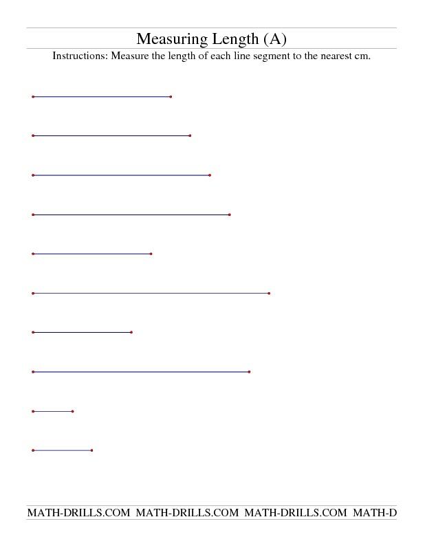 measurement worksheet measuring length of line segments in cm a quotes pinterest. Black Bedroom Furniture Sets. Home Design Ideas