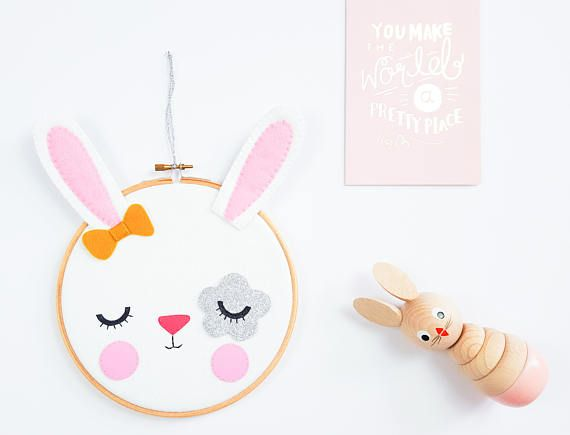Bunny decorative hoop hoop art