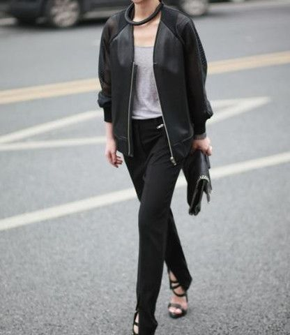 Alexa Mesh Leather Bomber Jacket $75.00 http://www.helloparry.com/collections/outwear/products/alexa-mesh-leather-bomber-jacket