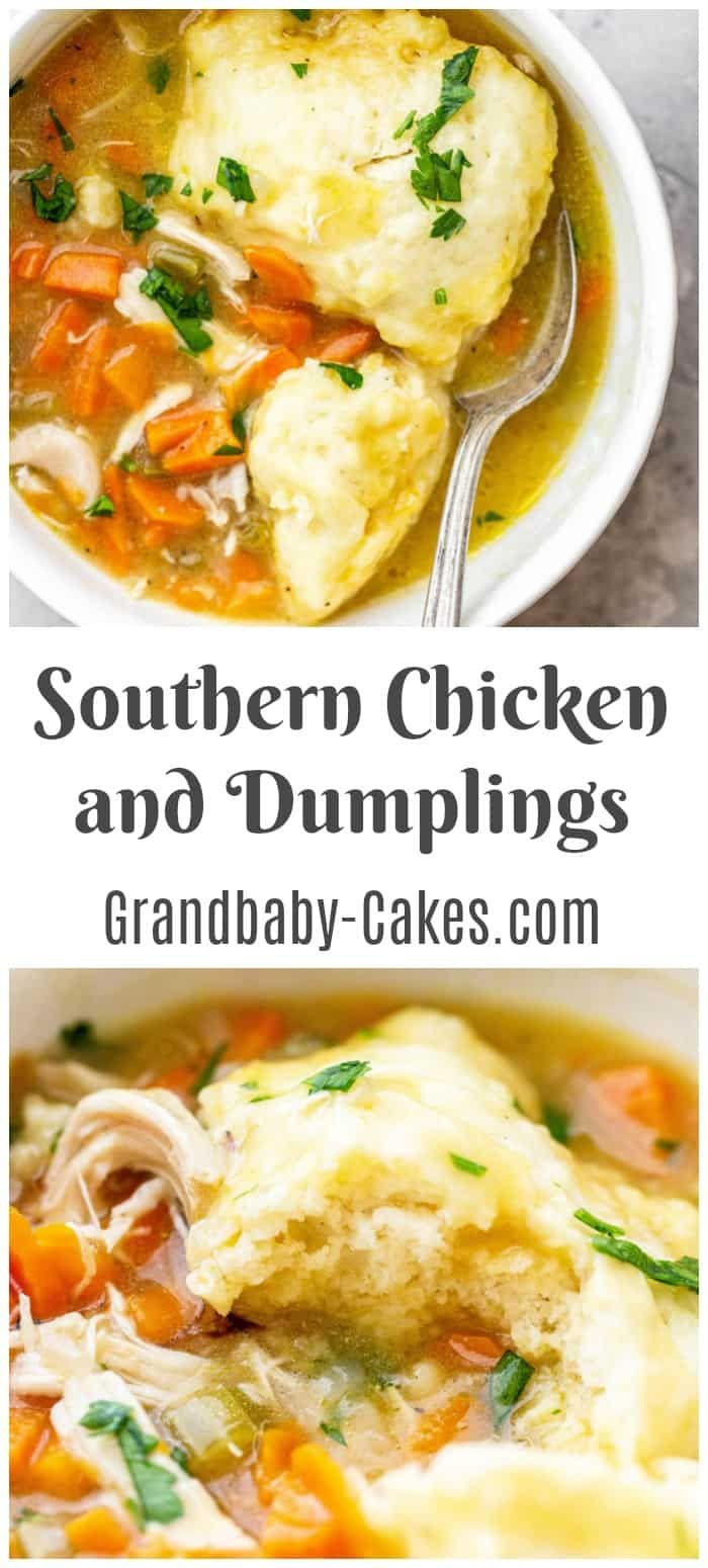 The Best Southern Chicken And Dumplings Recipe Recipe In 2020 Homemade Chicken And Dumplings Chicken And Dumplings Southern Chicken