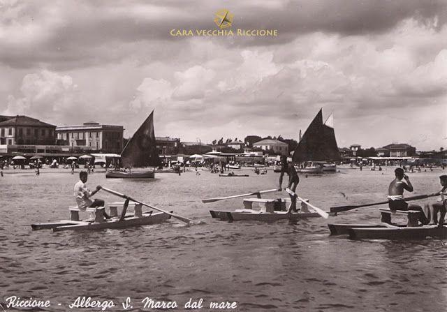 Cara Vecchia Riccione: Mosconi in mare