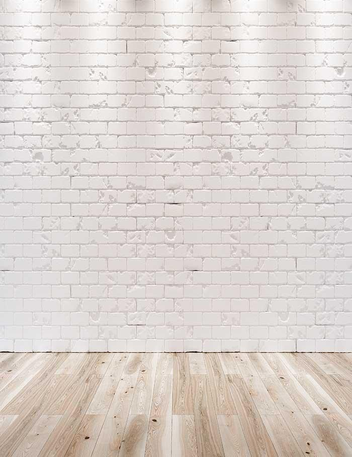 White Brick Wall Texture Wood Floor With Light Photography Backdrop J 0345 Light Wood Wallpaper Wood Floor Texture White Wood Wallpaper