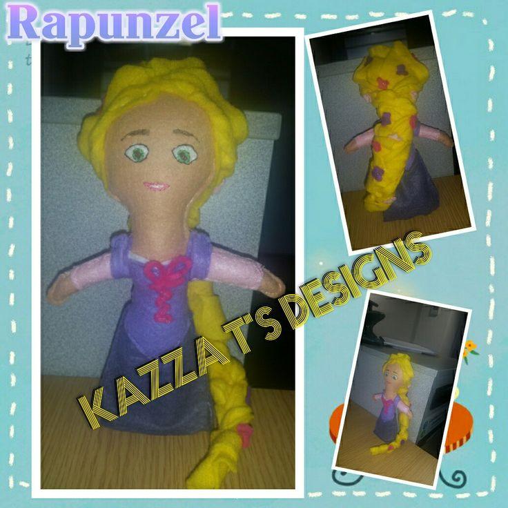 Handmade felt plush doll Rapunzel 😁👍#kazzatsdesigns #feltplushdolls #beingcreative #favecharacters #Rapunzel #Tangled