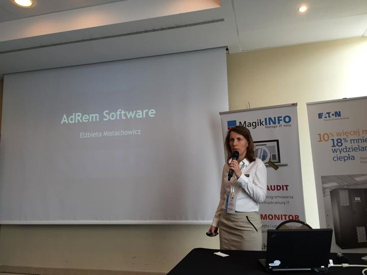 Ela is giving a presentation on #NetCrunch at GigaCon Katowice 2015. #sysadmin #networkmonitoring #networking #IT