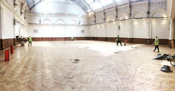 New Year New Floor!  some little renovations happening for all our lovely clients! #eventsspace #venue #renovations #parquetfloor