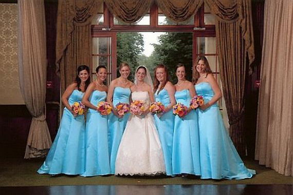 Now THAT'S a June Bride!!!  Google Image Result for http://thebestfashionblog.com/wp-content/uploads/2011/11/blue-bridesmaid-dresses_14.jpg