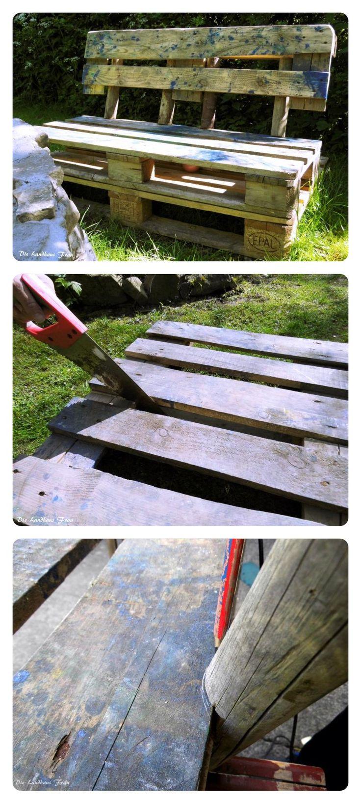 DIY Gartenbank Aus Paletten Selber Machen.
