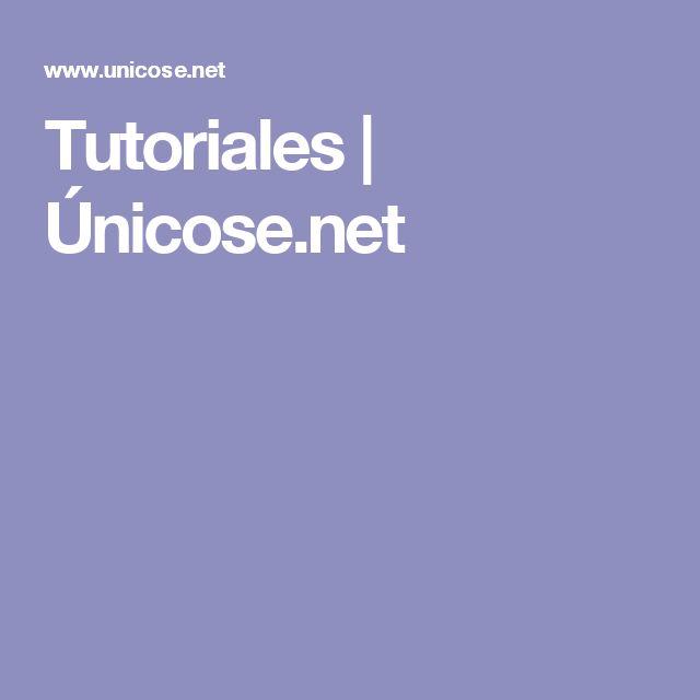 Tutoriales | Únicose.net