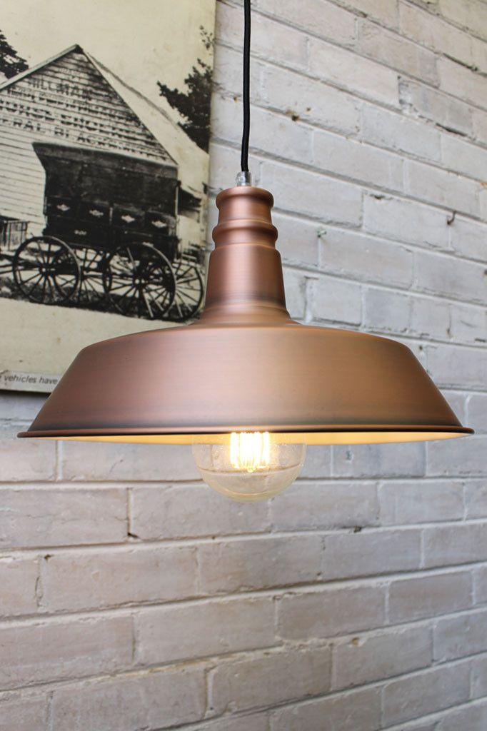 Copper Station Pendant Light matt copper finish