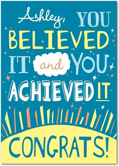 30 best Congratulation Cards - Life Achievements images on - congratulation templates
