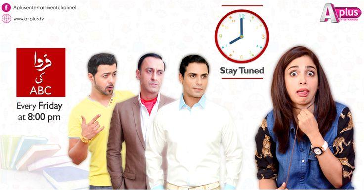 "Watch ""Farwa Ki ABC"" tonight 8pm on A-Plus  #Pakistan @soniahussyn @zasmaz"