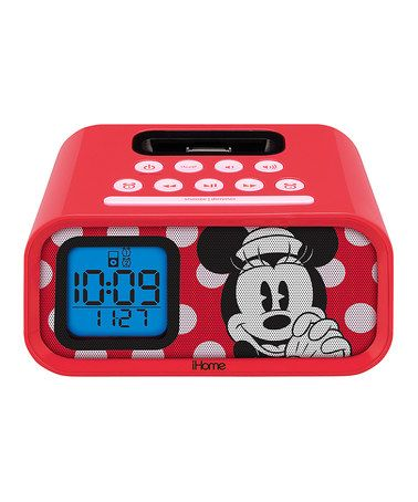 Love this Minnie Mouse iHome Alarm Clock Speaker by Minnie Mouse on #zulily! #zulilyfinds