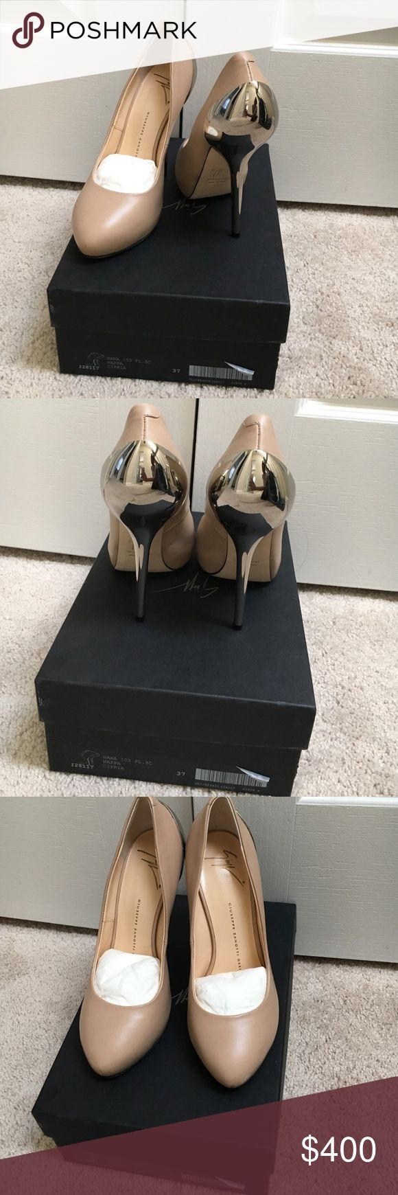 Giuseppe Zanotti Design Nana Beautiful nude pump with silver detail. Never worn, only tried on in the store and once in the house to pair with an outfit. Comes with original box and shoe bags. Giuseppe Zanotti Shoes Heels