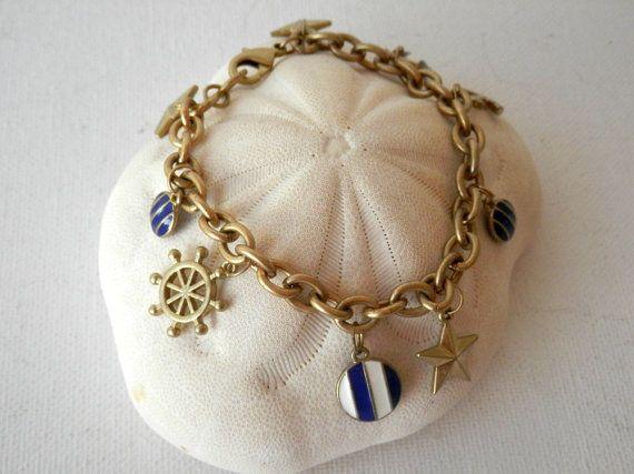 Nautische sieraden anker armband nautische door TheGemandTheJar