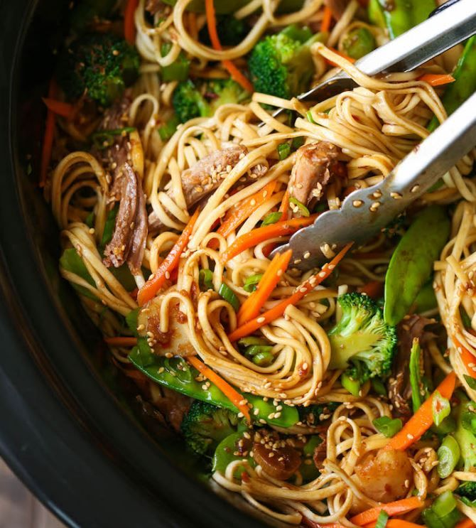 YIELD: 6 SERVINGS PREP TIME: 10 MINUTES COOK TIME: 8 HOURS 30 MINUTES TOTAL TIME: 8 HOURS 40 MINUTES Skip delivery and try this veggie-packed takeout favorite for a healthy dinnertime meal t…