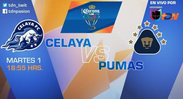Celaya vs Pumas en Vivo por Internet Copa MX 2017