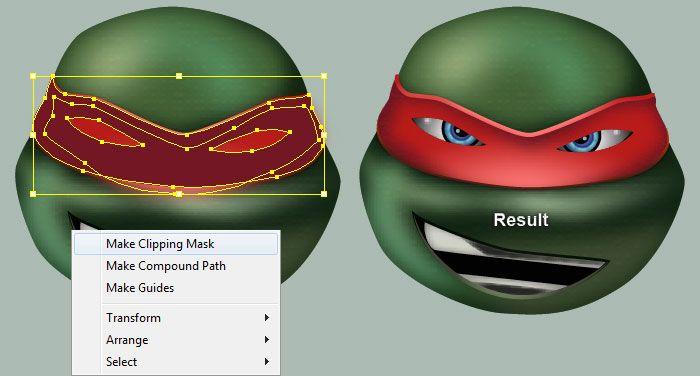 Illustrator Tutorial: Create Four Ninja Turtles Characters