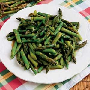 Thinking this will be a home run thanks to Taste of Home ~  Sugared Asparagus: Veggiessid Dishes, Side Dishes, Slices Almonds, Sugar Asparagus, Asparagus Side, Asparagus Allrecipes Com, Veggies Side, Asparagus Allrecipescom, Asparagus Recipe