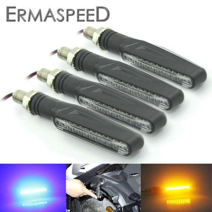 2 Paires Moto Clignotants Lumière Flexible 12 LED Clignotants Indicateurs Universelle Clignotants Clignotants pour Honda GROM MSX125