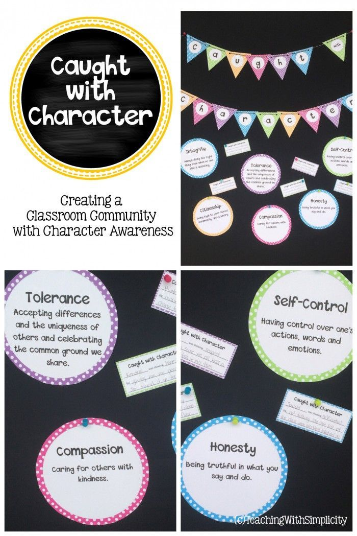 Caught with Character is a FREE bulletin board set that is fun, interactive, and allows students to highlight the good character they find fellow classmates.