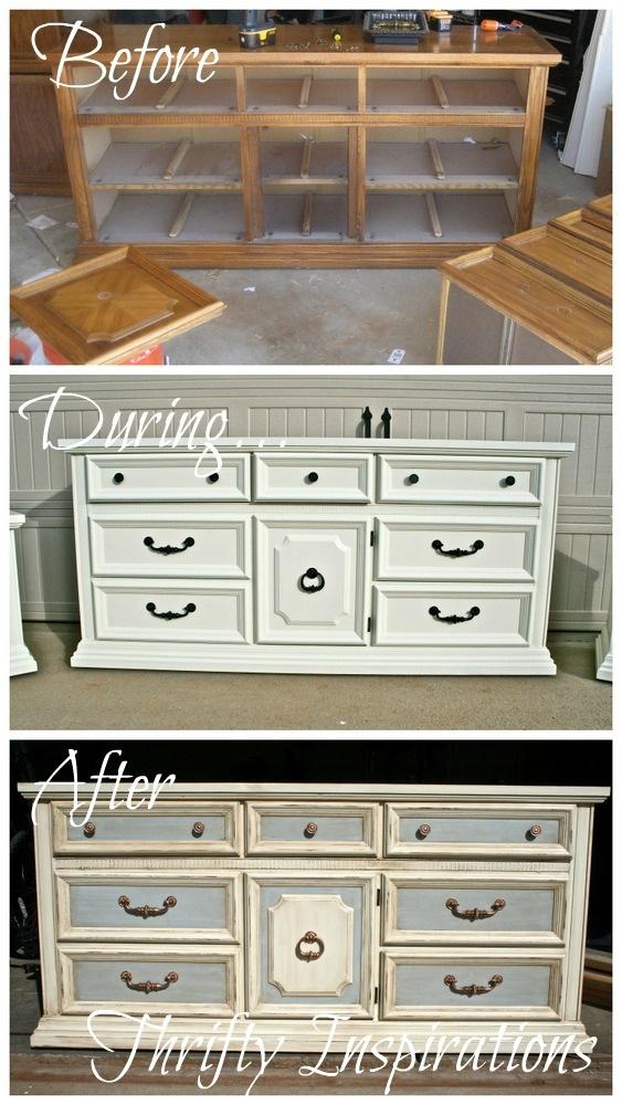 diy painted dresser how to glaze u0026 distress an old dresser tutorial by thrifty - Painted Dressers