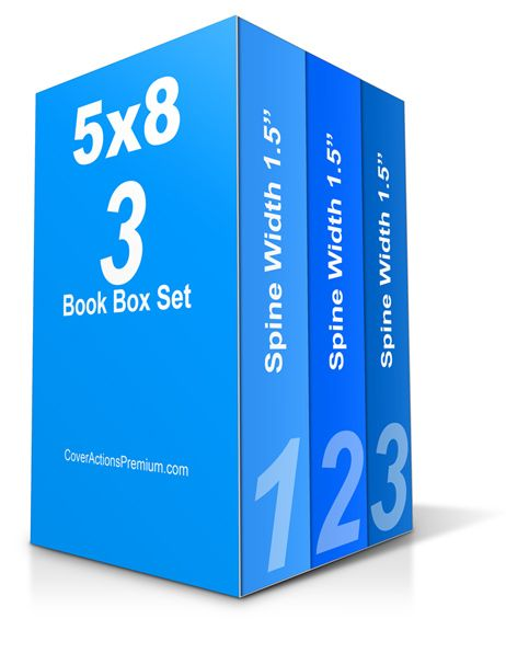 Photoshop Cover Actions Free Download- 3 Book Box Set mockup.
