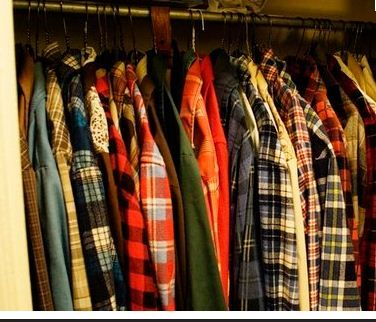 Thrift store flannels