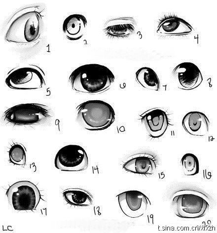 different ways to draw eyes ✤ || CHARACTER DESIGN REFERENCES | Find more at https://www.facebook.com/CharacterDesignReference