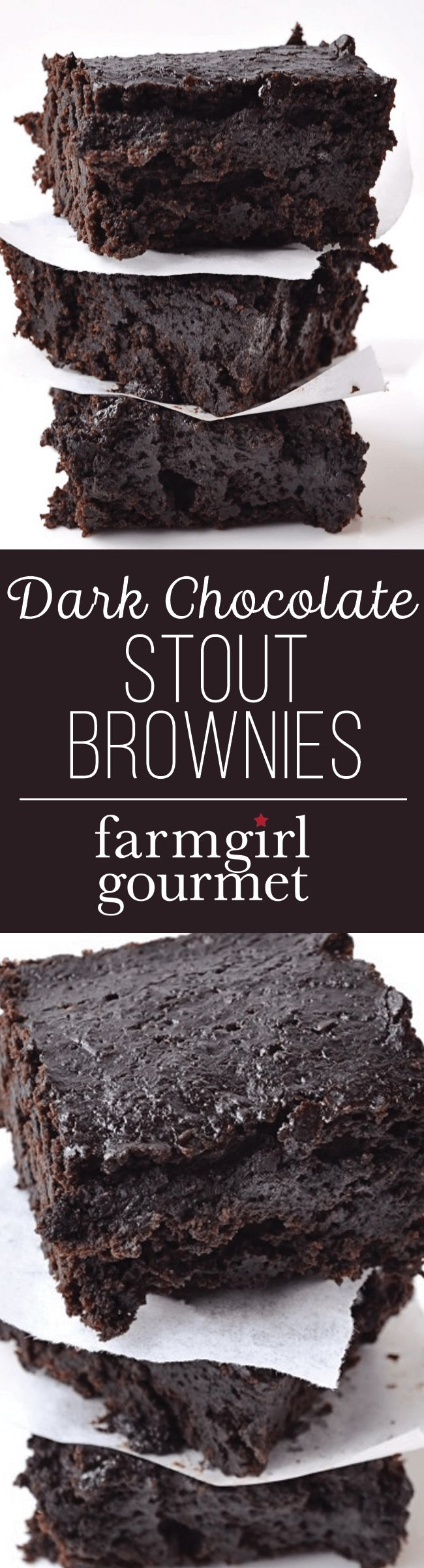 Dark chocolate stout brownies with a twist. The addition of black beans makes…