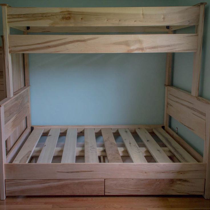 Best Ambrosia Maple Bunk Beds Twin Over Full With Two Under 400 x 300